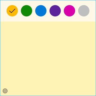 Помещённые в Виндовс 10 заметки на рабочий стол могут иметь цвет который установите вы