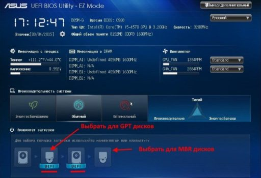 Как установить UEFI BIOS